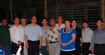 COM-FSM hosted a dinner reception at the Village Hotel for the guests from the Zhejiang Open University