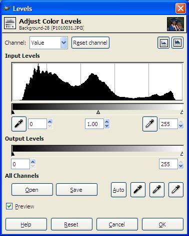 GIMP: Auto-balance, white balance, and retinex