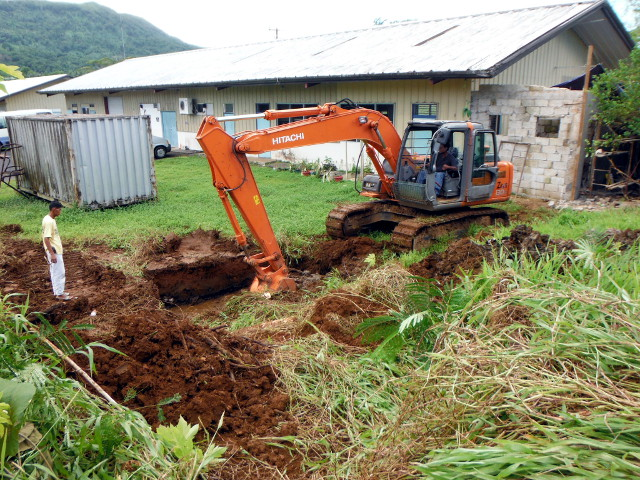 Work on septic tank