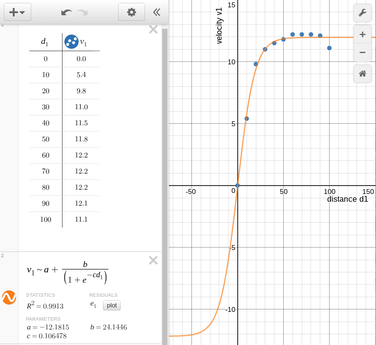 how to find slope on desmos