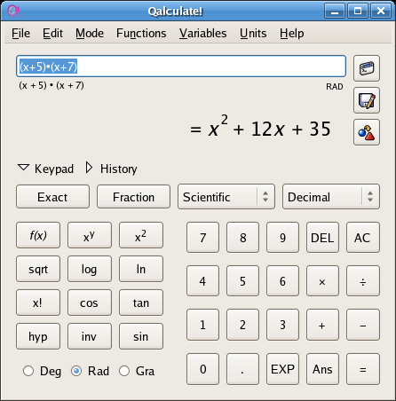 calculator for math problems