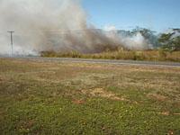 Fire across from COM-FSM