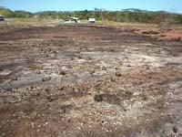 Result of fire seen below. Across the road from COM 09 Feb 98