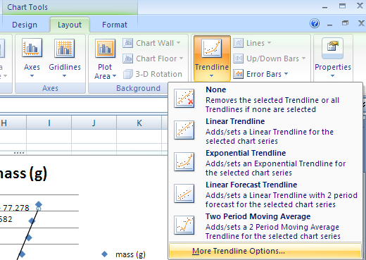 how to read a log graph scale on excel
